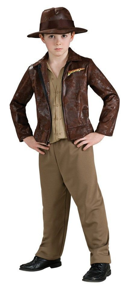 883126 Go on an adventure this Halloween as Indiana Jones. The Deluxe Indiana  Jones Costume includes a brown Jacket with attached shirt and matching  pants. 832820525e8