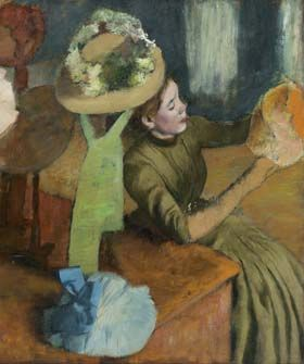 Impressionism, Fashion, and Modernity exhibition at the The Art Institute of Chicago Degas - Millinery Shop