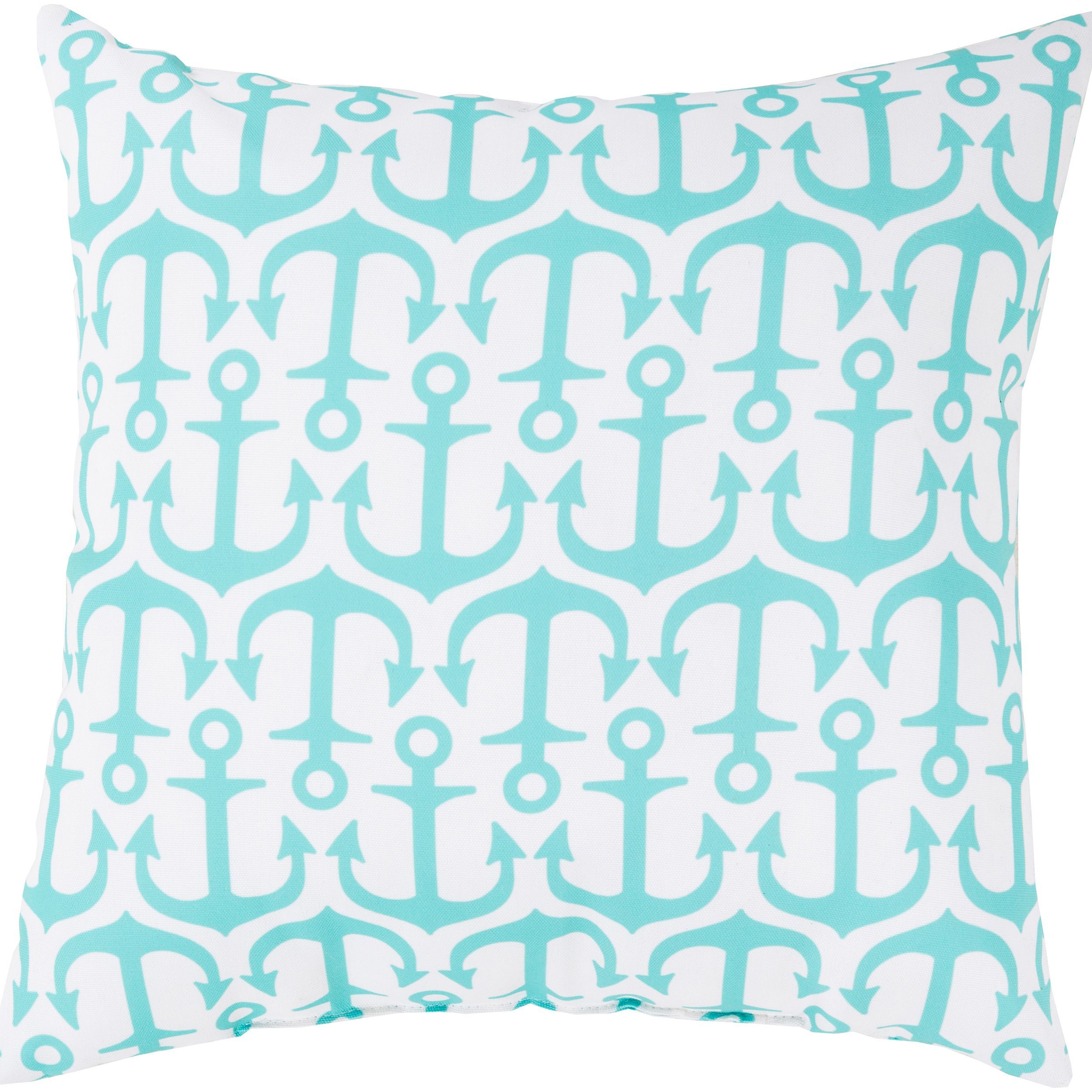 Sea Anchors Indoor  Outdoor Safe Decorative Throw Pillow (Grey   (26
