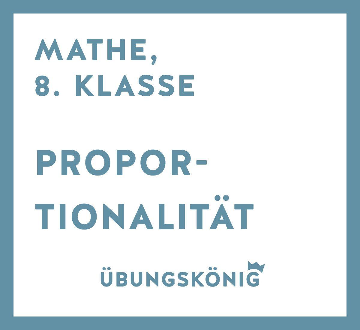 8 kostenlose Arbeitsblätter und Übungen als PDF zur Proportionalität ...