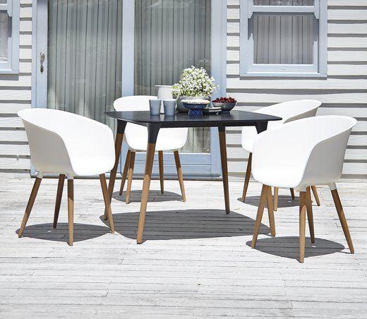 Jysk Garden Furniture Table ubjerg 107cm4 chair varming white jysk garden outdoor garden table and chairs garden dining sets workwithnaturefo