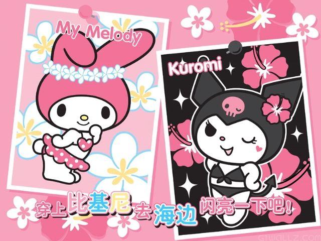 Sanrio My Melody and Kuromi Halloween Sticker Sheet #1 | Halloween ...