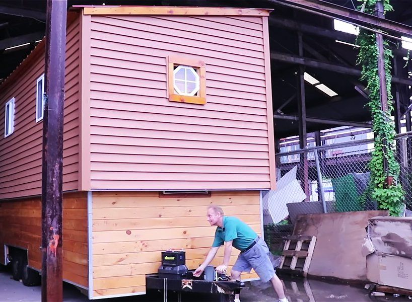 this tiny house on wheels has a raising roof that reveals a ... Raised Roof House On Wheels Plans on raised roof home, raised roof design, flat house plans, garage house plans, condo house plans, floor house plans, raised roof kitchen, raised roof construction, windows house plans, tv house plans, heavy duty house plans,
