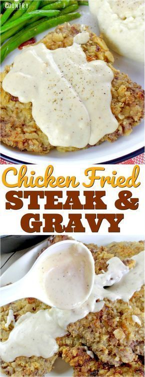 Chicken Fried Steaks with Sawmill Gravy #beefsteakrecipe