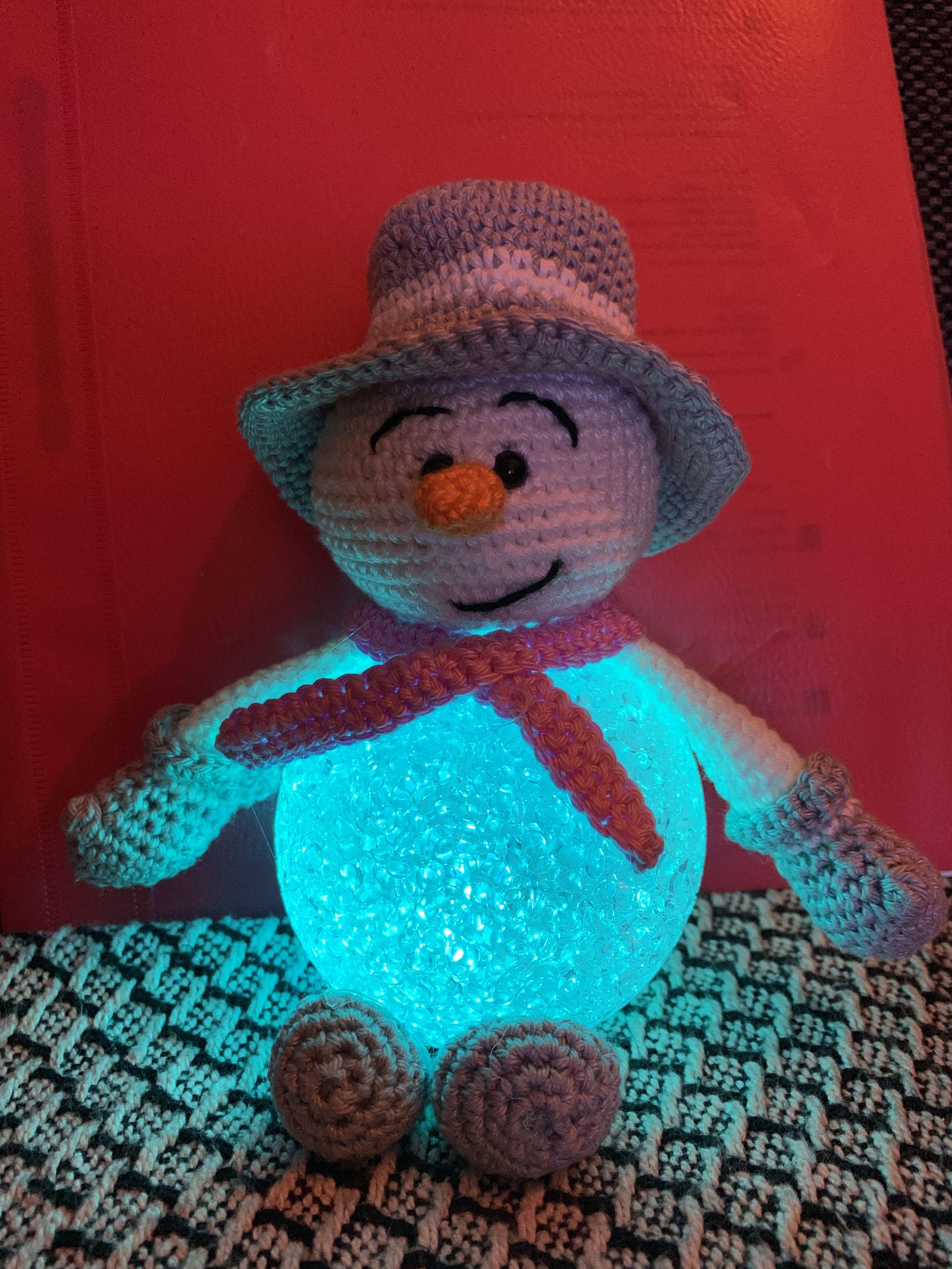 Sil S Corner Patroon Sneeuwpop Met Led Bal Haken Kerst Kerst Haak Gehaakte Geschenken