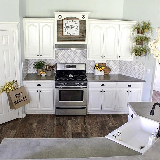 Cottonstem Com Farmhouse Kitchen White Cabinets Sherwin Williams