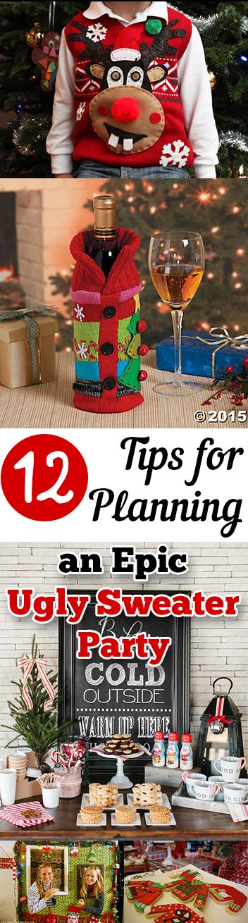 Awesome Big Christmas Party Ideas Part - 7: 12 Tips For Planning An Epic Ugly Sweater Party