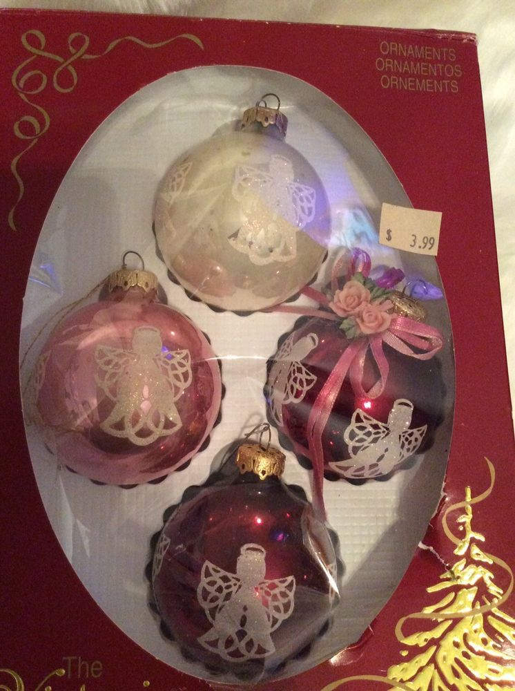 4 vintage the victoria collection rauch ind angel christmas ornaments balls usa ebay