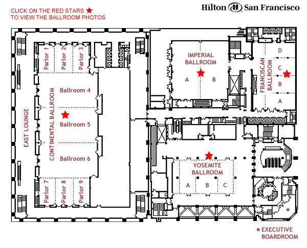 Hilton ballroom plan google search banquet hall for Banquet hall floor plan