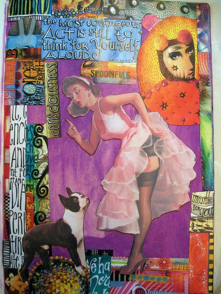 """Lois Romeo - larger creations from her """" Summer Fun Series"""". On THE DYAN REAVELEY ART JOURNALING Gateway FB Group... ♡♡ these!!"""
