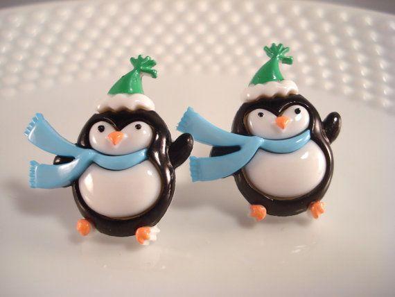 Christmas Penguin Pyramid Necklace Winter Animal Jewelry Bird Pendant