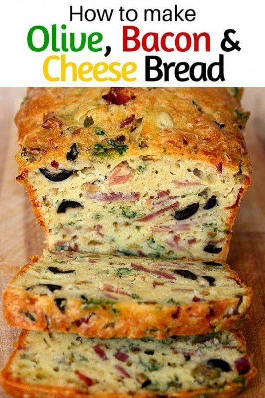 How to Make Olive, Bacon and Cheese Bread