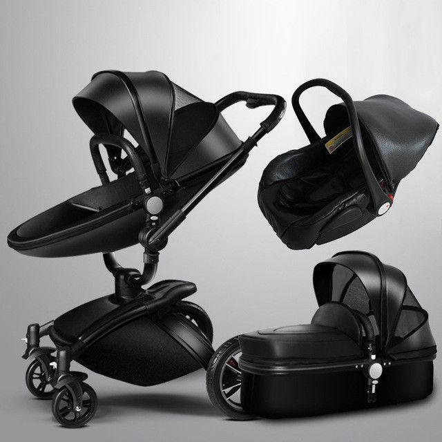 Baby Stroller 3 in 1 With Car Seat High View Pram For Newborns ...