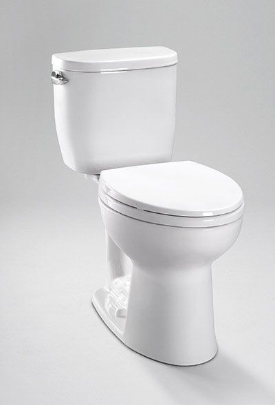 Toto Entrada Toilet In White With Elongated Comfort Height Includes Soft Close Seat Lids