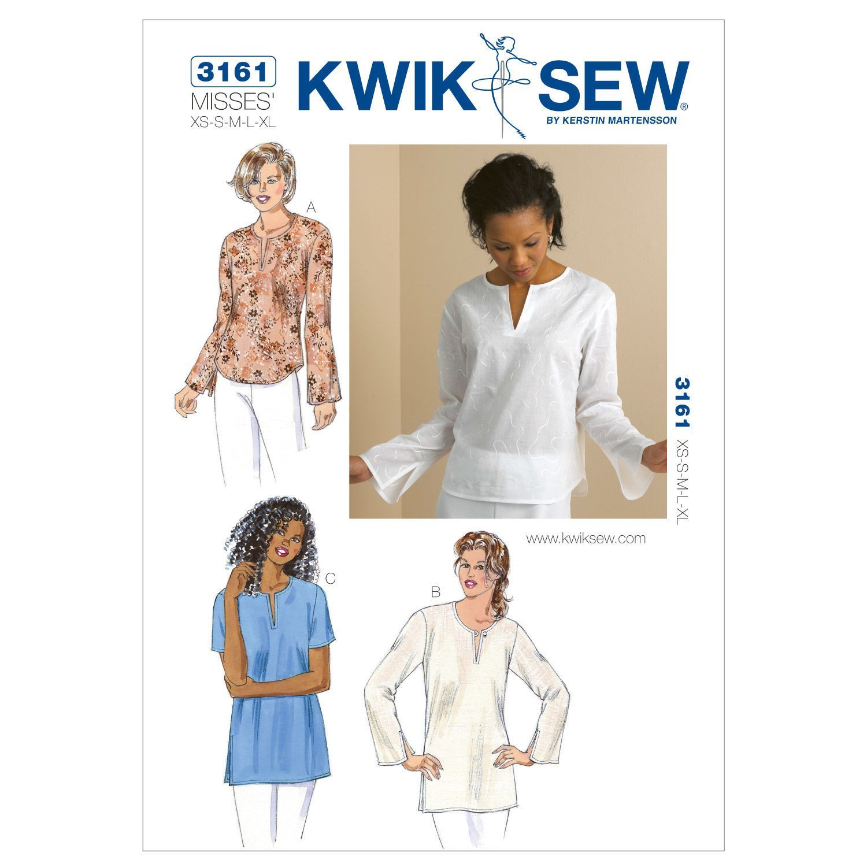 Kwik Sew Womens Top-K3161 | Products | Pinterest | Túnicas