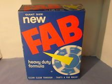 Vintage Fab Laundry Detergent Box Giant Size Fab Laundry