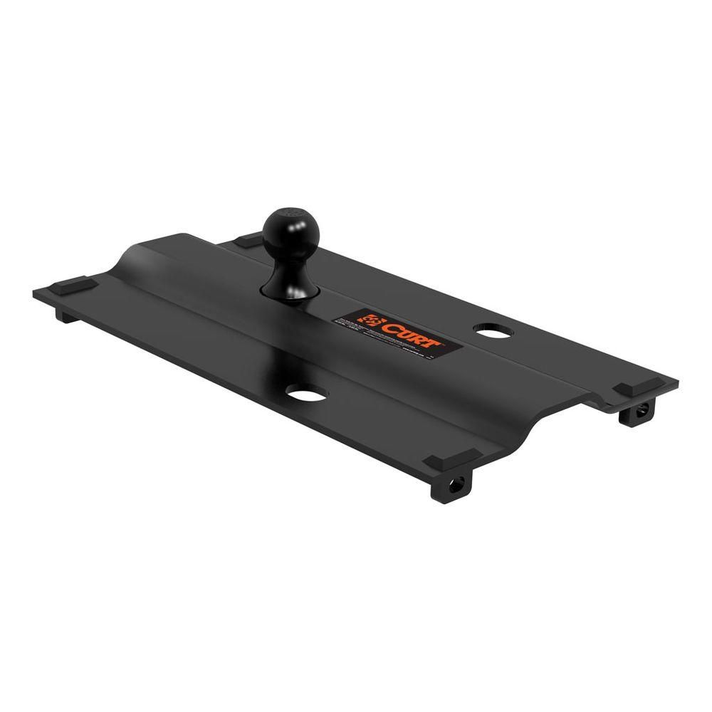 Fifth Wheel To Gooseneck Hitch >> Curt Bent Plate 5th Wheel Rail Gooseneck Hitch With Ball