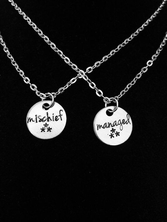 Mischief Managed Friendship Necklace Set By Byamandajane On Etsy