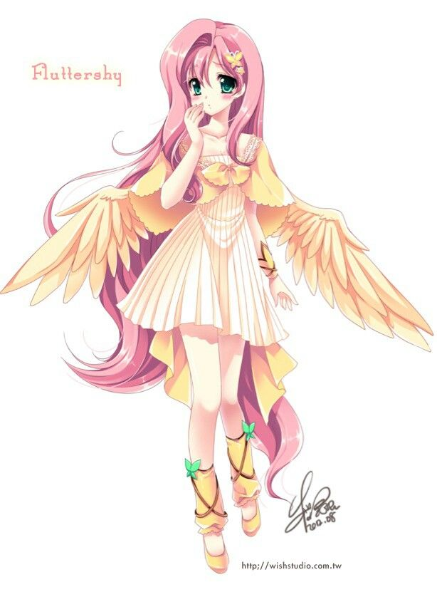Fluttershy Anime Version Picture From My Little Pony: Friendship Is Magic.