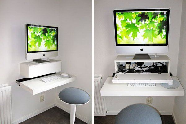 15 Diy Computer Desk Ideas Tutorials For Home Office Wall Mounted Desk Diy Computer Desk Computer Desk Plans