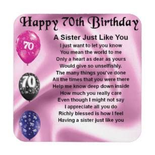 Happy 70th Birthday To My Sister