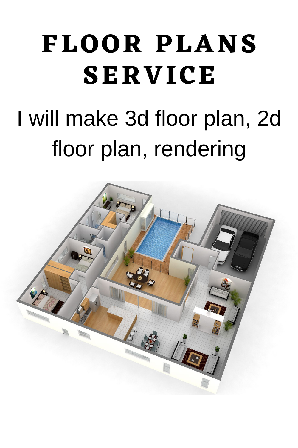 I Will Make 3d Floor Plan 2d Floor Plan Rendering House Floor Plans Home Floor Plan In 2020 Floor Plans Diy House Plans Free Floor Plans