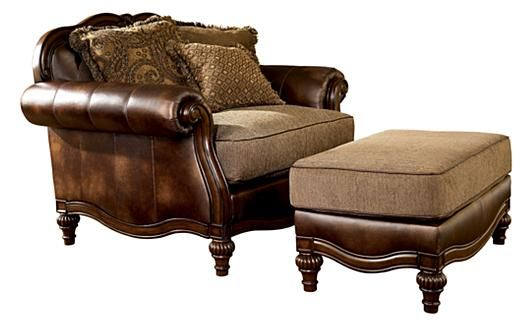 Living Room - Claremore - Antique Oversized Chair | Ashley Furniture ...