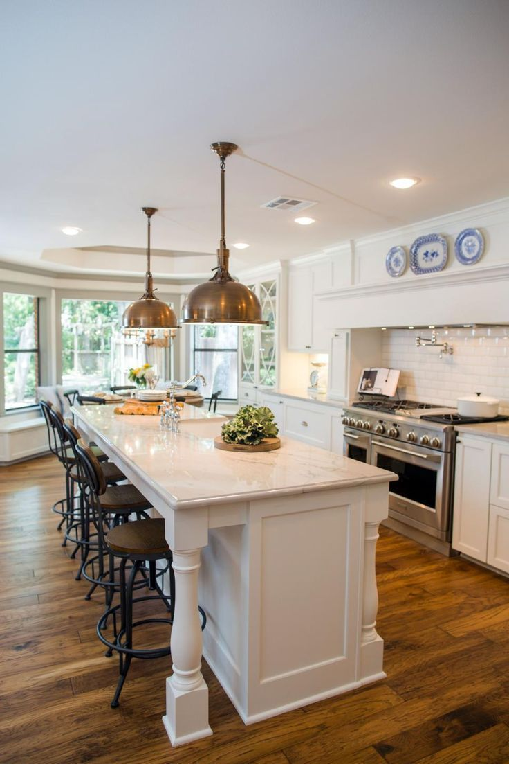 Fixer upper a big fix for a house in the woods kitchen island