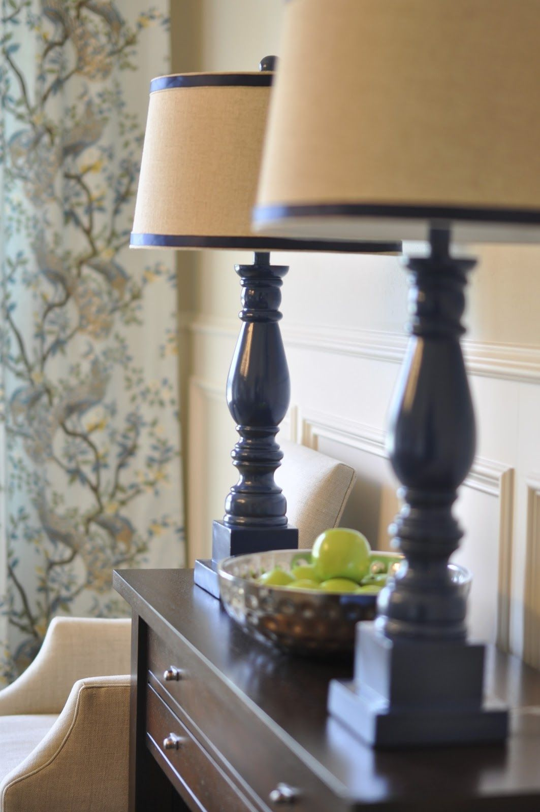 To Make Lamps Taller Consider Adding A Base Painted The Same Color Lamp Makeover Dining Room Lamps Diy Lamp Makeover