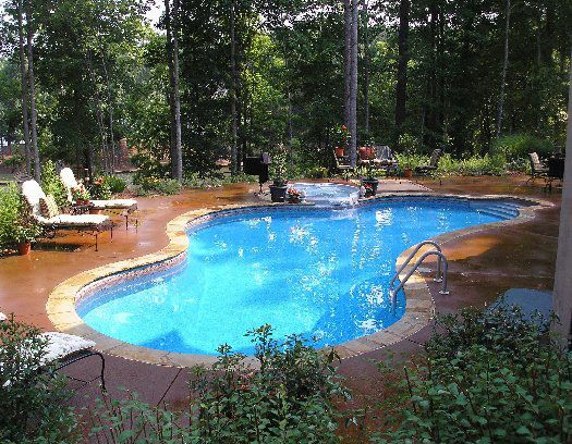 Vinyl liner pools pool size and shape step options for Pool design options
