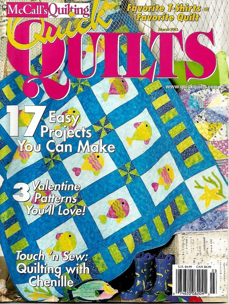 2003 McCall's Quick Quilts Magazine March 17 Projects #Q89 ... : quick quilt magazine - Adamdwight.com