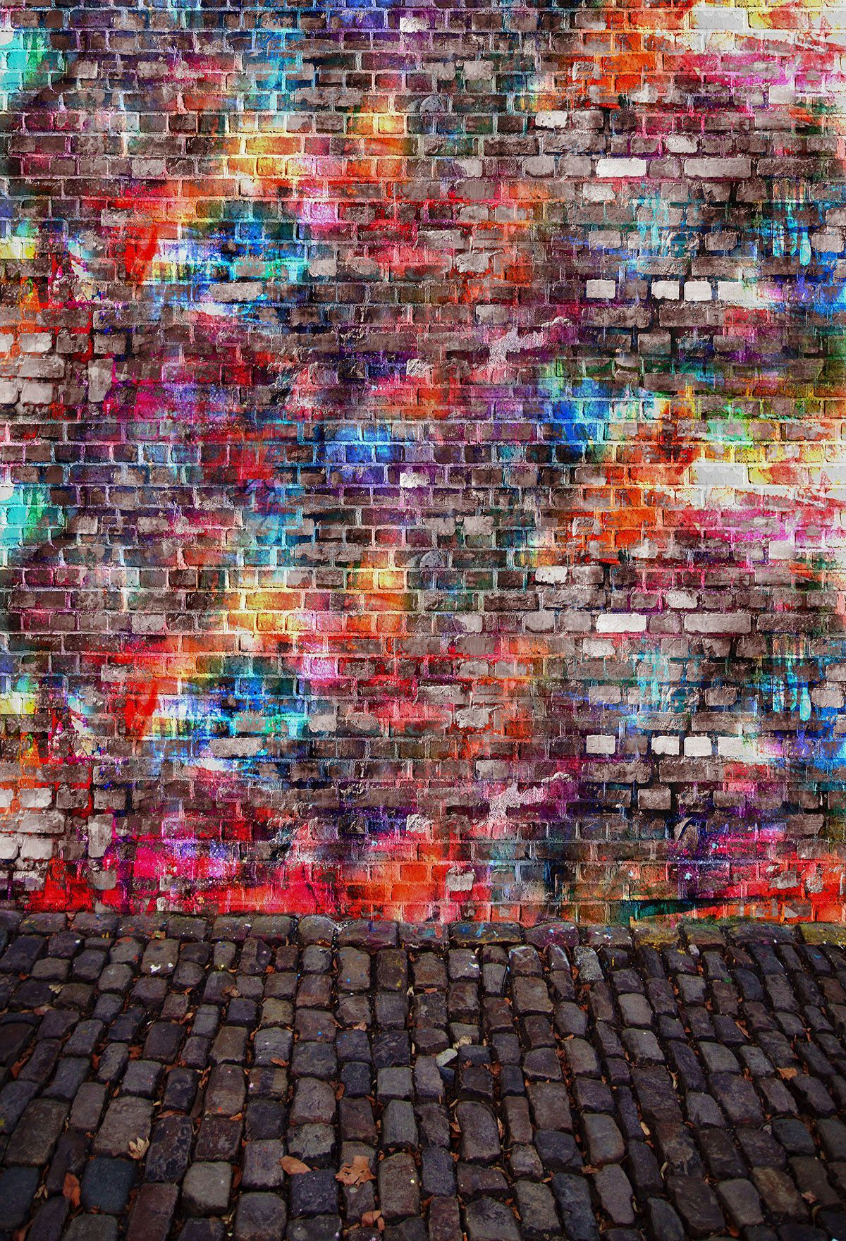 Scenic Backdrops Graffiti Backgrounds Brick Wall Backdrops