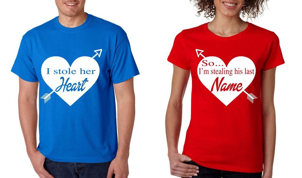 i stole her heart so im stealing his last name valentines day shirts couple - Valentines Day Shirts Ladies
