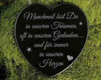 Gedenkstein Herz Grabschmuck Marmor Sterne Gravur #totensonntagzitate