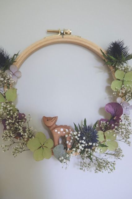 Photo of Hej Hanse: Preserve the summer: Small hoop wreaths with dried …