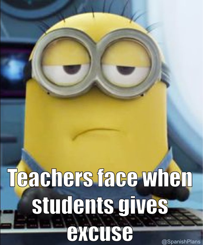 Image result for student excuses meme