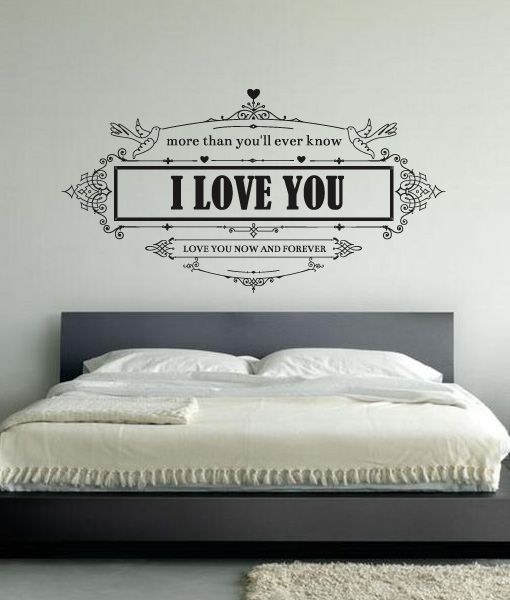 Textos more than you ll never know cabeceira cama for Papel de pared decorativo