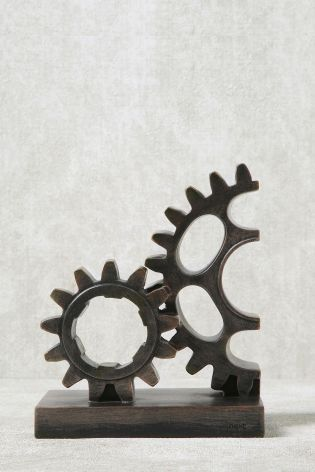 """steampunk cogs  deers  craft,fabric,glass,furniture,wall art up to 23/"""""""