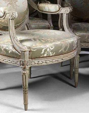 Salon Style Louis 16 mobilier de salon. Époque louis xvi. - eloge de l'art par alain