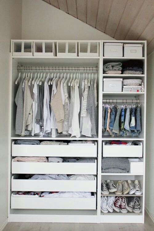 Marvelous Ikea Pax Wardrobe System Perfect For A Small Closet!