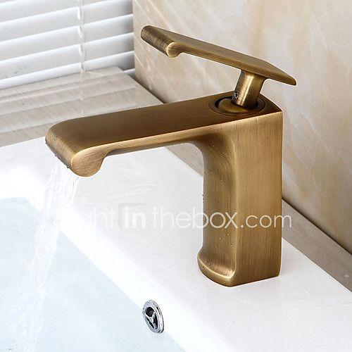 Bathroom Sink Faucet Pre Rinse Waterfall Widespread Antique