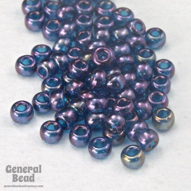 11/0 Gold Luster Aqua/Amethyst Japanese Seed Bead