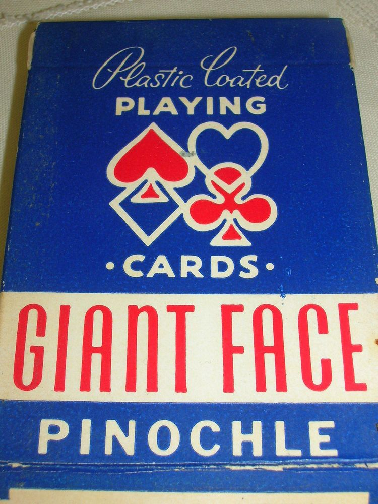 Pinochle Giant Face Playing Cards Arrco Playinf Card Co