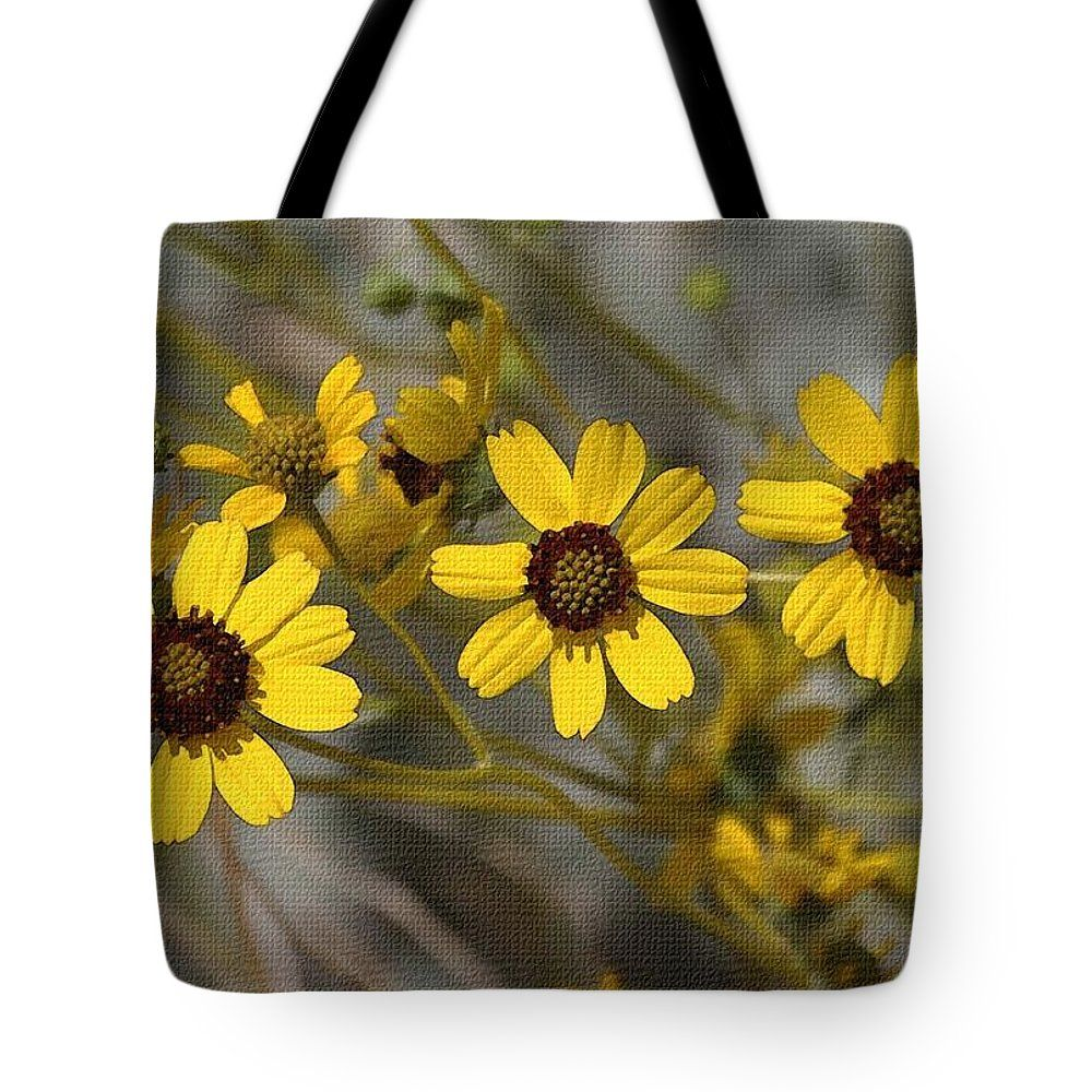 Wild Brittle Bush Flowers Tote Bag By Tom Janca The Tote Bag Is
