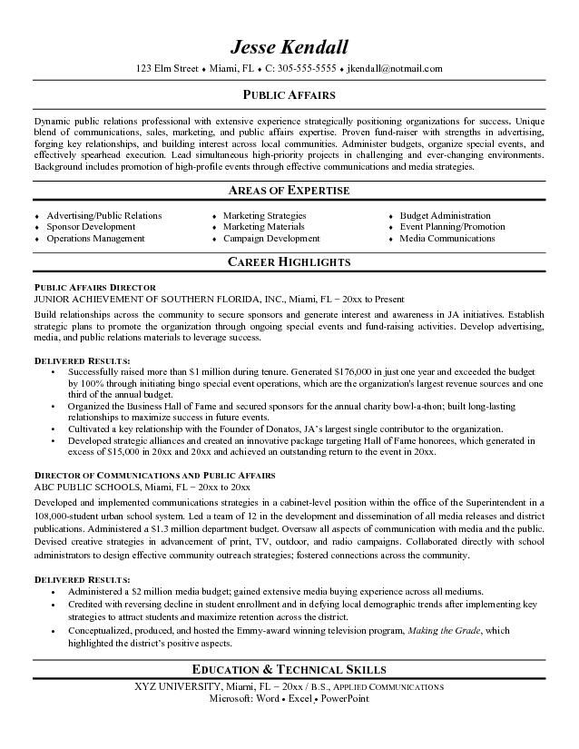 Public Relations Resume Examples resume Pinterest Public - fha loan processor sample resume