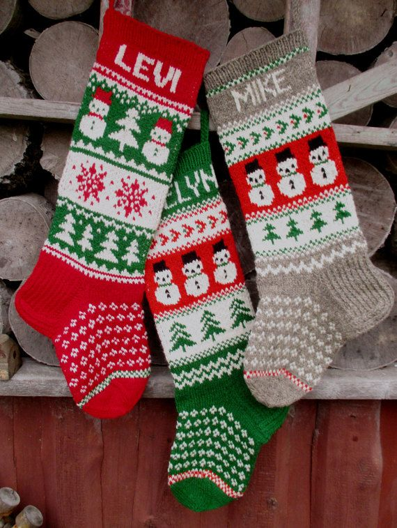 """FOR 2020! Knit Christmas Stockings 24"""" or 26"""" Personalized ..."""