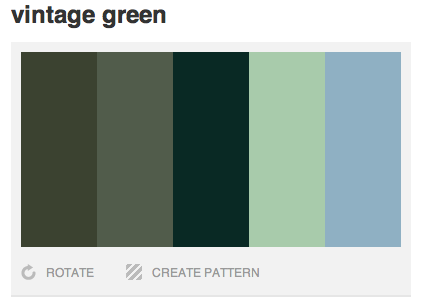 Vintage Green Colour Palette I Have The Light Green In My Bedroom These Other Colours Would Look Great Vintage Green Green Colour Palette Green