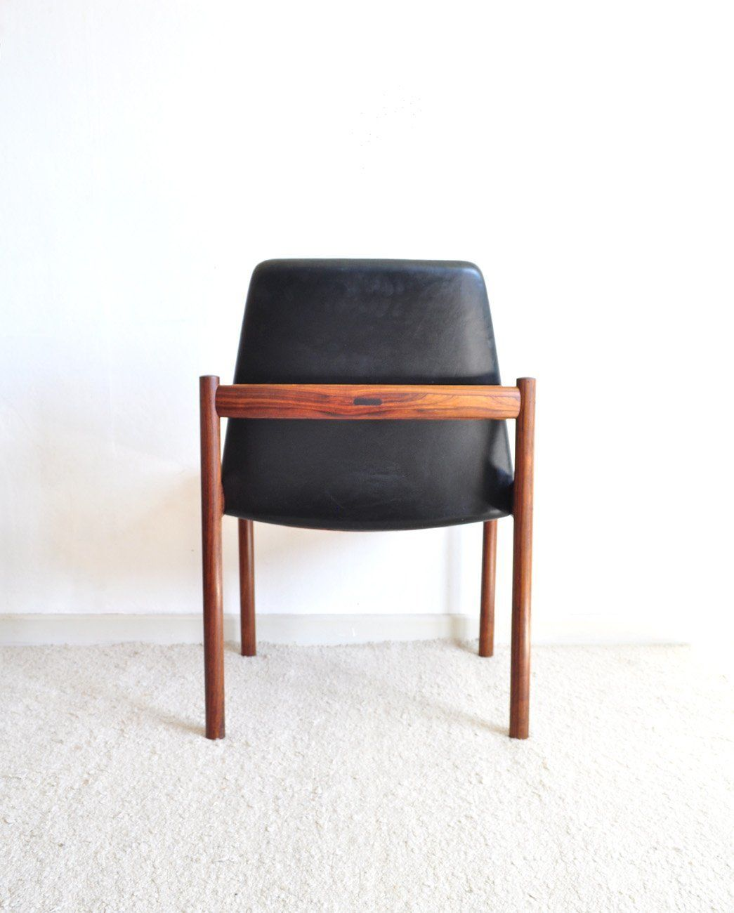 Rosewood & Leather Easy Chair By Sven Ivar Dysthe For