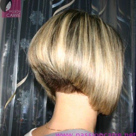 Carre plongeant blond nuque courte 03 aline bob blonde short nape carr plongeant - Nuque carre plongeant ...