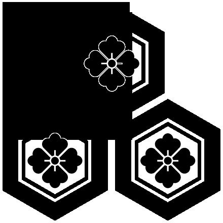 家紋 三つ盛亀甲花菱紋 Mitsumorikikkouhanabishi Mon 家紋